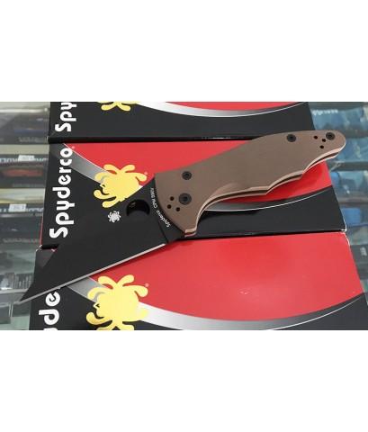 มีดพับ Spyderco Yojimbo 2 Folding Knife S90V Black DLC Plain Blade, Brown G10 Handles (C85GPBNBK2)