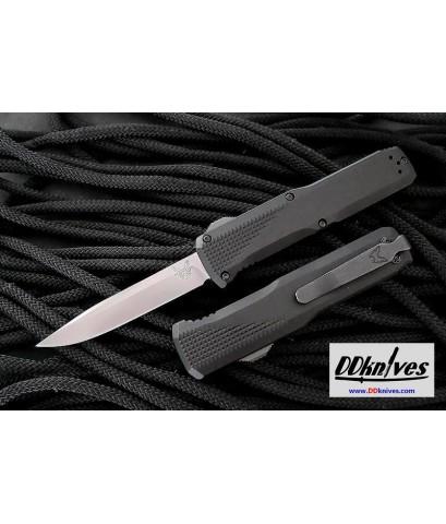 มีดออโต้ Benchmade Phaeton AUTO OTF Satin S30V Drop Point Blade, Black Aluminum Handles (4600)