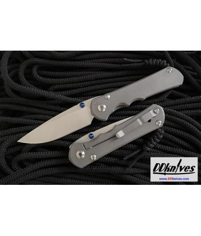 มีดพับ Chris Reeve Large Inkosi S35VN Drop Point Blade, Double Lugs, Titanium Handles (LIN-1000)
