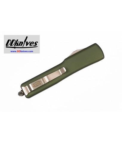 มีดออโต้ Microtech UTX-70 D/E OTF Automatic Knife Stonewash Blade, OD Green Handles (147-10OD)