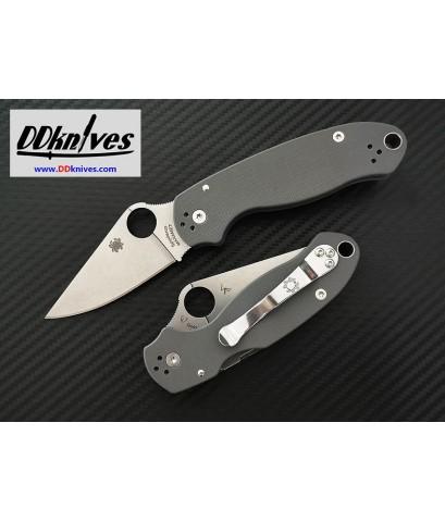 มีดพับ Spyderco Para 3 Folding Knife Maxamet Stonewash Blade, Dark Gray G10 Handles (C223GPDGY)