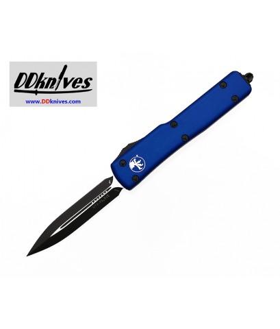 มีดออโต้ Microtech UTX-70 D/E OTF Automatic Knife Black Blade, Blue Handles (147-1BL)