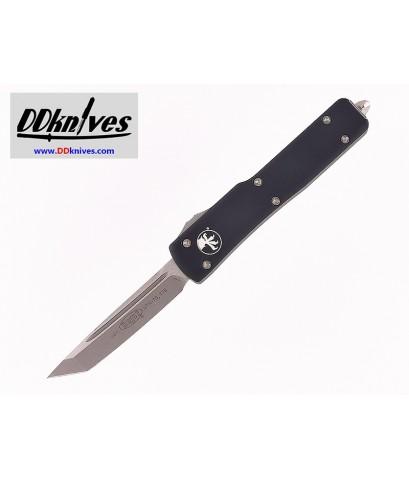 มีดออโต้ Microtech UTX-70 T/E OTF Automatic Knife Stonewash Blade, Black Handles (149-10)