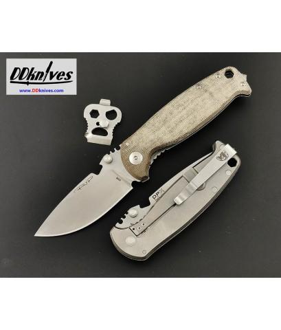 มีดพับ DPX HEST/F CLASSIC DECADE M390 Stonewash Plain Blade, Micarta and Titanium Handles (DPHSF031)