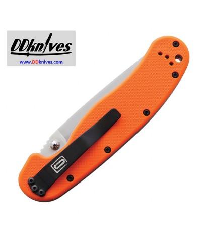 มีดพับ Ontario RAT Model 1 Folding Knife Satin D2 Plain Blade, Orange Nylon Handles (8867OR)