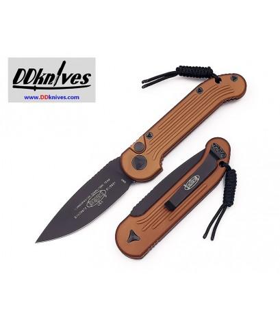 มีดออโต้ Microtech LUDT Automatic Knife S/E Black Blade, Tan Handles (135-1TA)