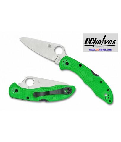 มีดพับ Spyderco Salt 2 Folding Knife LC200N Plain Blade, Green FRN Handles (C88FPGR2)