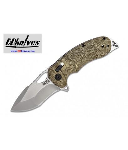มีดพับ SOG Kiku XR CTS-XHP Satin Plain Blade, Natural Linen Micarta Handles (12-27-01-57)