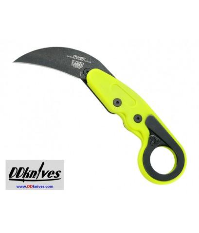 มีดคารัมบิท CRKT Provoke Zap Kinematic Morphing Karambit Folding Knife, Green Handles (4041G)