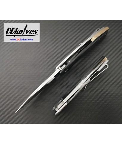มีดพับ CRKT Pilar III Folding Knife D2 Stonewashed Plain Blade, Black G10 Handles (5317D2)