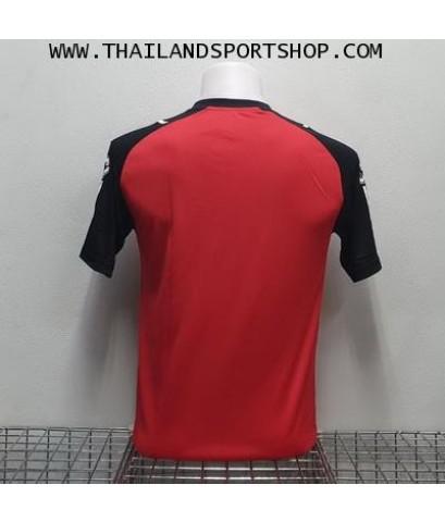 เสื้อกีฬา ยูเรก้า EUREKA รุ่น A5032 (สีแดง RA) ตัดต่อ