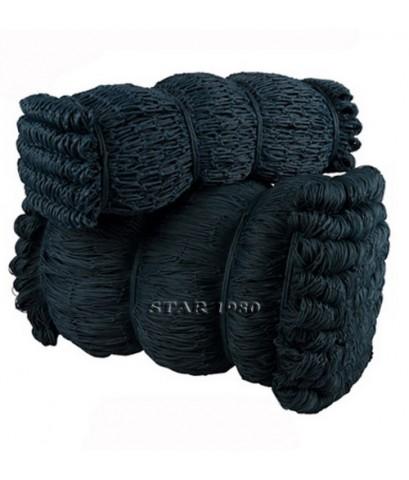 สั่งผลิต.แบบที่ 15 เชือกไนล่อน hdpe (สีดำ เส้น 2.5 mm., ช่อง 5x5 นิ้ว, 6x70 m.) kn