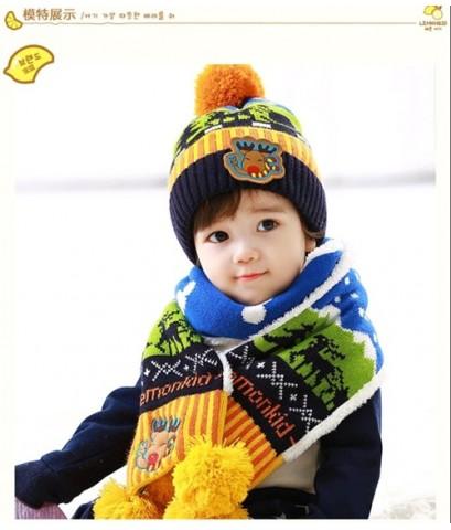 หมวกขนสัตว์ Dongkuan แถมฟรี ผ้าพันคอเข้าชุด เนื้อหนามาก