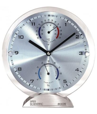 ป้ายแสดงเวลา นาฬิกา อุณหภูมิ ความชื้น RH/Temp Clock ขนาด 8.5 นิ้ว รุ่น 810039
