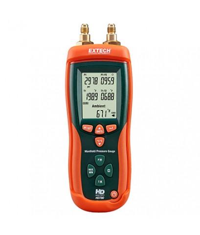 เครื่องวัดความดัน Heavy-Duty Preassure/Type-K Temperature Meter (500psi) รุ่น HD780