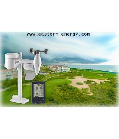 เครื่องวัดสภาพอากาศ ปริมาณน้ำฝน Wireless Weather Station Kit รุ่น Extech WTH600-KIT
