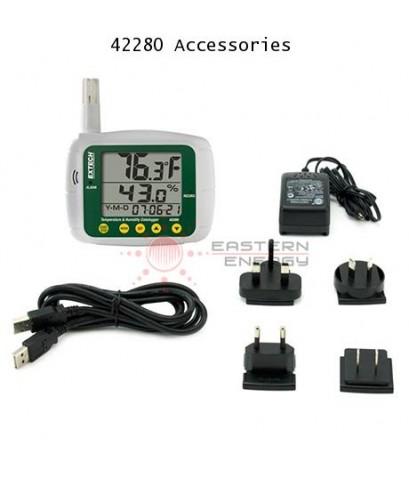 เครื่องบันทึกอุณหภูมิความชื้น Datalogger with USB interface รุ่น Extech 42280