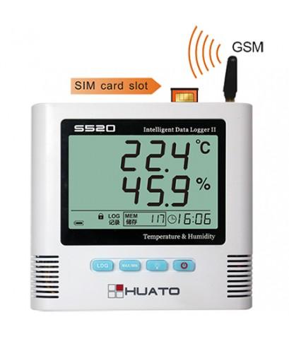 เครื่องบันทึกอุณหภูมิความชื้นแจ้งเตือน SMS, GSM Alarm Data Logger รุ่น S500-TH-GSM