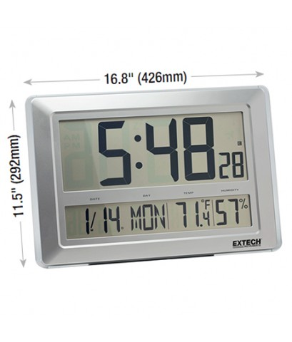 เครื่องวัดอุณหภูมิความชื้น นาฬิกาขนาดใหญ่ 17x12นิ้ว Clock/Hygro-Thermometer รุ่น CTH10A