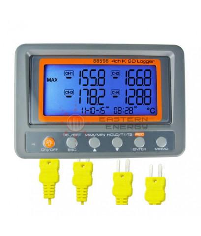เครื่องวัดอุณหภูมิ 4 channel K thermometer SD card data logger รุ่น 88598