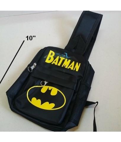 เเป้สะพายเฉียง กระเป๋าคาดอก Shoulder bag ลาย แบทแมน Batman ขนาด 6x10x3 นิ้ว