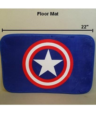 พรมเช็ดเท้า สี่เหลี่ยม ด้านหลังเป็นยาง ลาย อเวนเจอร์ Avengers กัปตันอเมริกา Captain america ขนาด 22x