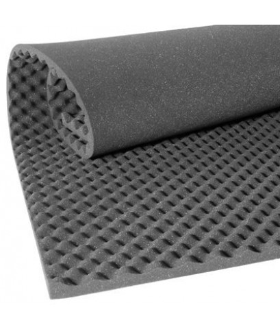 ฟองน้ำรังไข่ซับเสียง (Convoluted Acoustic Foam Panel ) ขนาด 125x200 เซนติเมตร