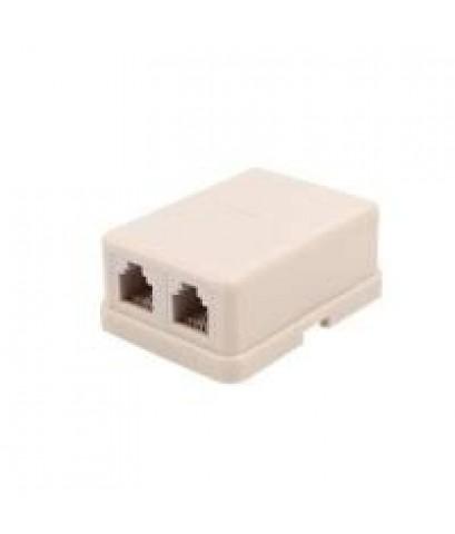 MODULAR BOX 6P4C SIZE : W(4) X H(5) X D(2) CM. (TAIWAN) ตลับโทรศัพท์ 6P4C