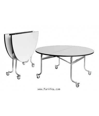 โต๊ะกลม พับครึ่ง รุ่น TR - 72 ขนาด Ø180 x 75 ซม.