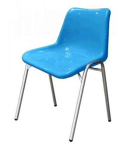 เก้าอี้ โพลีฯ อเนกประสงค์ รุ่น PP-01C ขากลมชุบโครเมียม