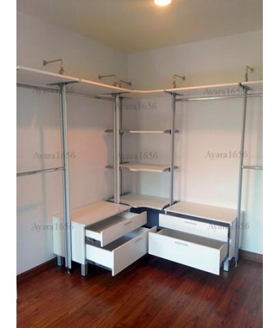 Walk In Closet - L Shape สีขาว