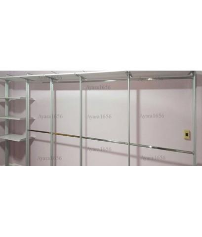 Walk in Closet - L Shape Melamine สีขาวด้าน