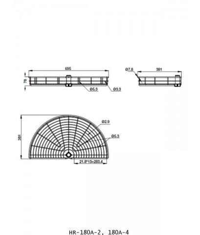 ตะแกรงอเนกประสงค์ สแตนเลส ครึ่งวงกลม 2, 4 ชั้น หน้าบานเปิด 45 ซม. (HR-180A-2, 180A-4)