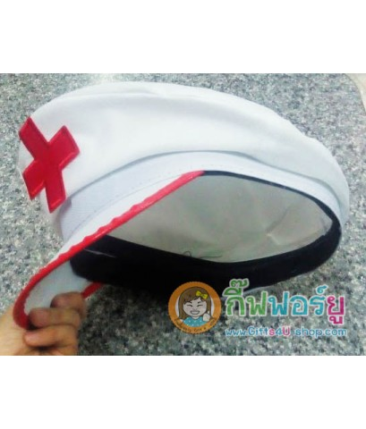 1 ใบ หมวกพยาบาล หมวกคอสเพลย์ หมวกแก๊ปติดเครื่องหมายบวก หมวกอาชีพ หมวกแฟนซี cosplay hat