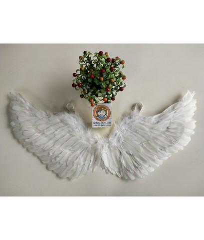 1 อัน สีขาว ปีกเด็ก 25 x 80 ซ.ม. ปีกขนนก ทรงปีกนก ปีกเทวดา ปีกนางฟ้า เทวดา ปีกนก ปีกแฟนซี