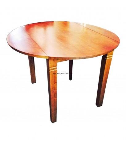 โต๊ะรับประทานอาหารพับได้ ไม้ยาง