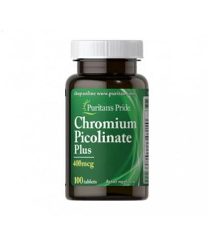 Puritan Chromium 200 mcg ขนาด 100 เม็ด (จากUSA) เพื่อเพิ่มการสลายของตัวของน้ำตาล เพิ่มมวลกล้ามเนื้อ