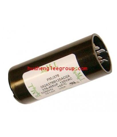 สตาร์ท คาปาซิเตอร์ - แคปสตาร์ท (ตัวพลาสติกกลม สีดำ) หัวเสียบ 108-130uF 330V