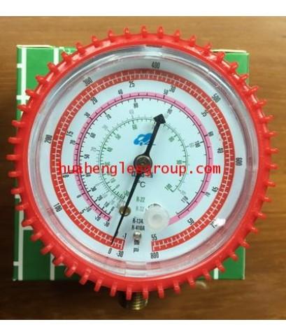 เกจ์ทางสูง \'QL\' (-30 - 800 psi) สีแดง (R32/22/134a/410A)