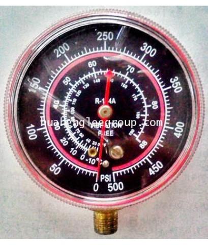 เกจ์ทางสูง HI (0-500 psi) R134a สีแดง