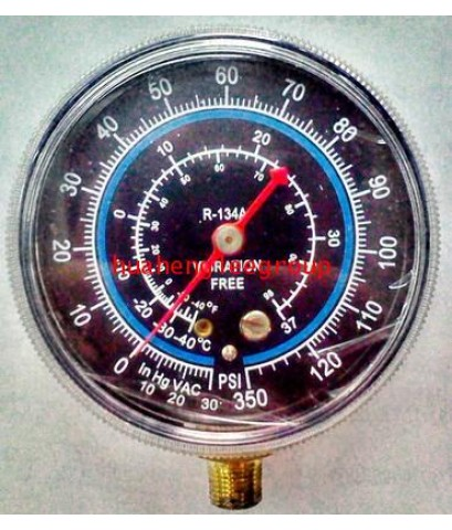 เกจ์ทางต่ำ LO (0-350 psi) R134a สีน้ำเงิน