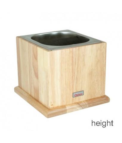 อ่างเคาะกากกาแฟ +กล่องไม้ตั้งอ่างเคาะกาก สูง 16.8 (ตัวใหญ่) 1610-263