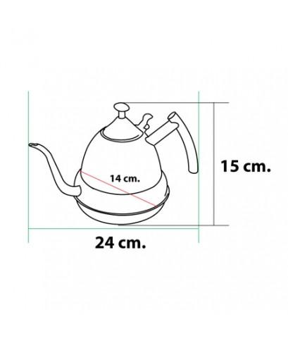 กาต้มน้ำร้อนสแตนเลส 1.2 ลิตร (Phoenix Auspicious Pot) 1610-279