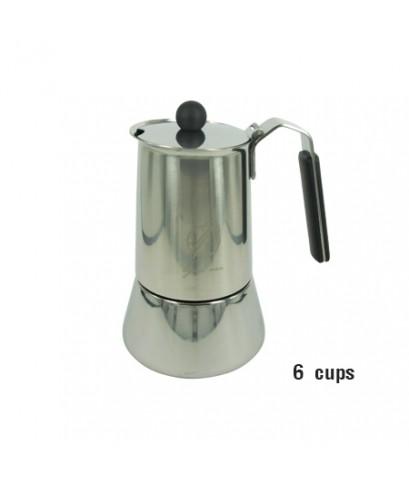 หม้อต้มกาแฟสดมอคค่าพอท (MOKA POT) สแตนเลส 6 ถ้วย 1614-096