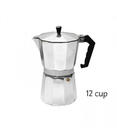 หม้อต้มชงชา และกาแฟสด มอคค่าพอท (MOKA POT) อลูมิเนียม 12 ถ้วย 1614-154