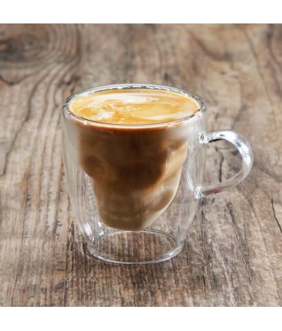 แก้ว 2 ชั้น ลายหัวกะโหลก แก้วกาแฟเอสเปรสโซ่  60 ml. 1610-609