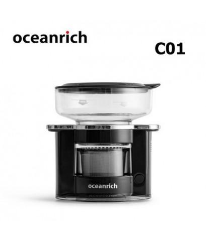 เครื่องดริปกาแฟโอเชี่ยนริช Oceanrich 150 มล. เครื่องเทน้ำดริปอัตโนมัติ-สีดำ 1614-201-C01