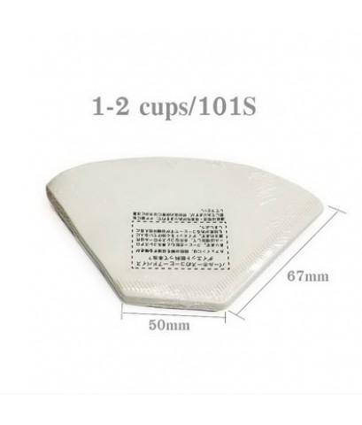 กระดาษกรองกาแฟดริป ทรงกรวยตัด สำหรับดริปเปอร์ ขนาด 1-2 คัพ หรือ 101S 1610-657
