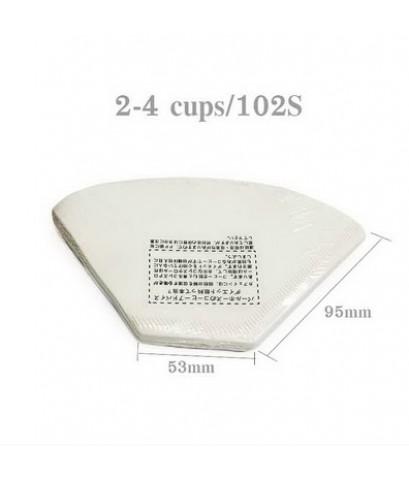 กระดาษกรองกาแฟดริป ทรงกรวยตัด สำหรับดริปเปอร์ ขนาด 2-4 คัพ หรือ 102S 1610-658