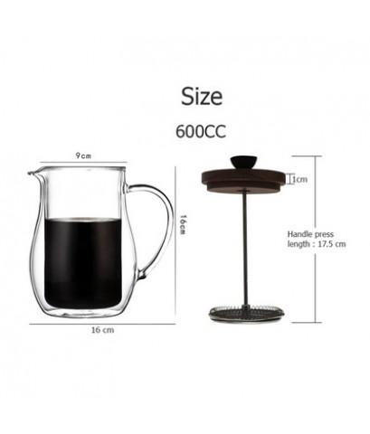 กาเฟรนซ์เพรส แก้ว 2 ชั้น 600cc 1610-673